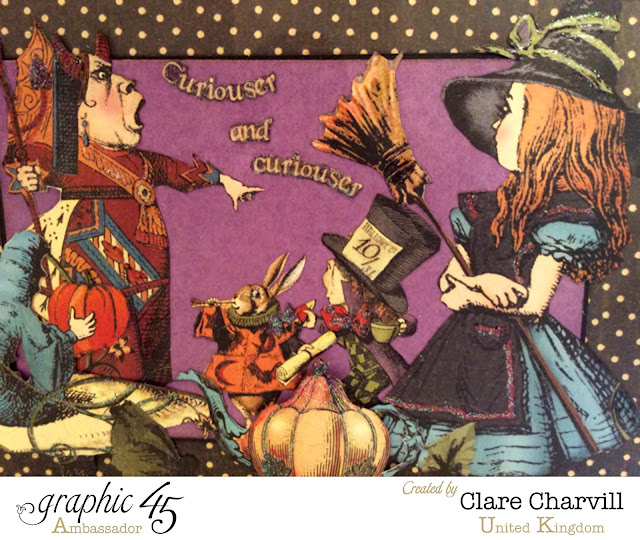 Halloween in Wonderland Scrap Book 2 Clare Charvill Graphic 45