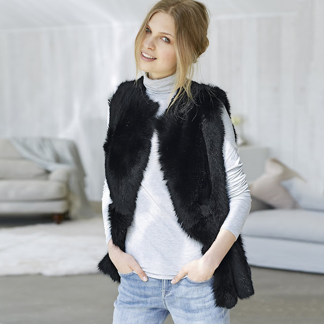 The White Company reversible sheepskin gilet