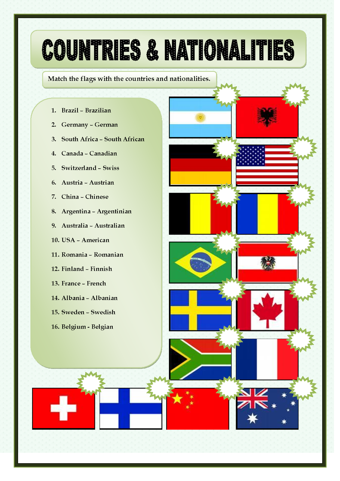 Meditatii Copii Constanta Countries Nationalities Languages And Flags Where Are You From