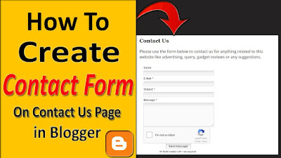 How To Add Contact Form on Contact Us Page in Blogger