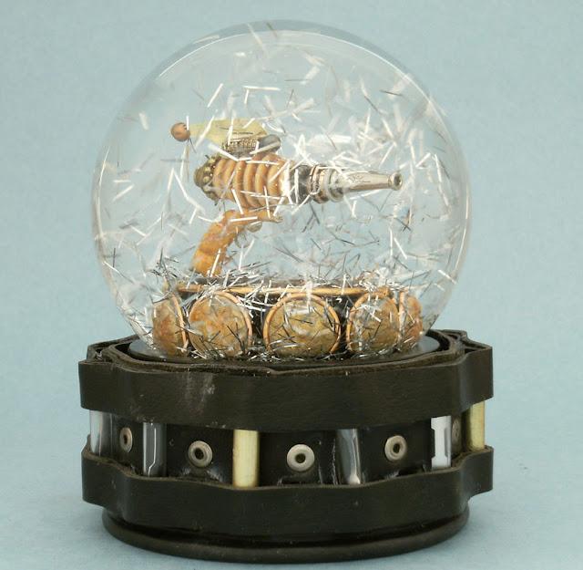 raygun snow globe