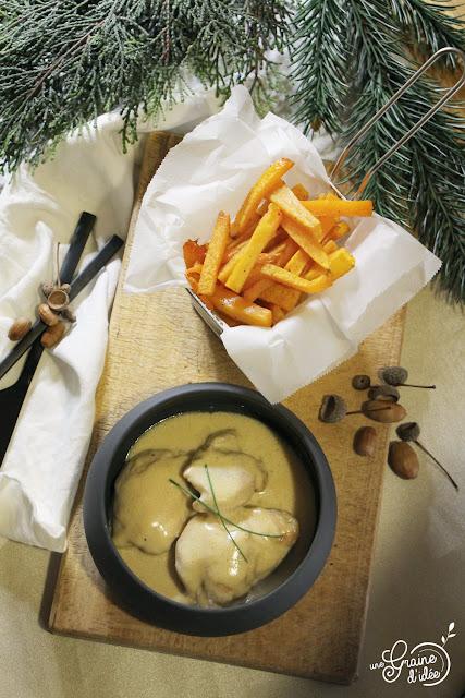 Sauté de poulet Soja Crème Frites de Butternut Recette Plat Automne