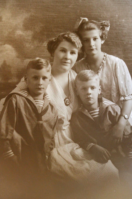 My grandmother Louise, Aunt Irene, Uncle Herman and my father Henry