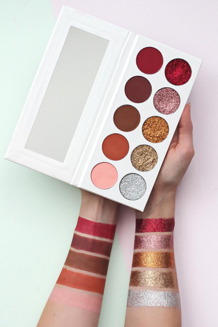 Identity Cosmetics glitter eyeshadow palette