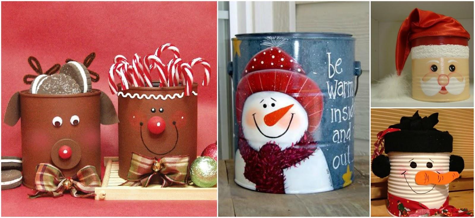 Aprende c mo decorar latas de leche para esta navidad - Como decorar de navidad ...