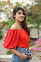 Rhea Chakraborty in Red Crop Top and Denim Shorts Spicy Pics ~  Exclusive 141.JPG
