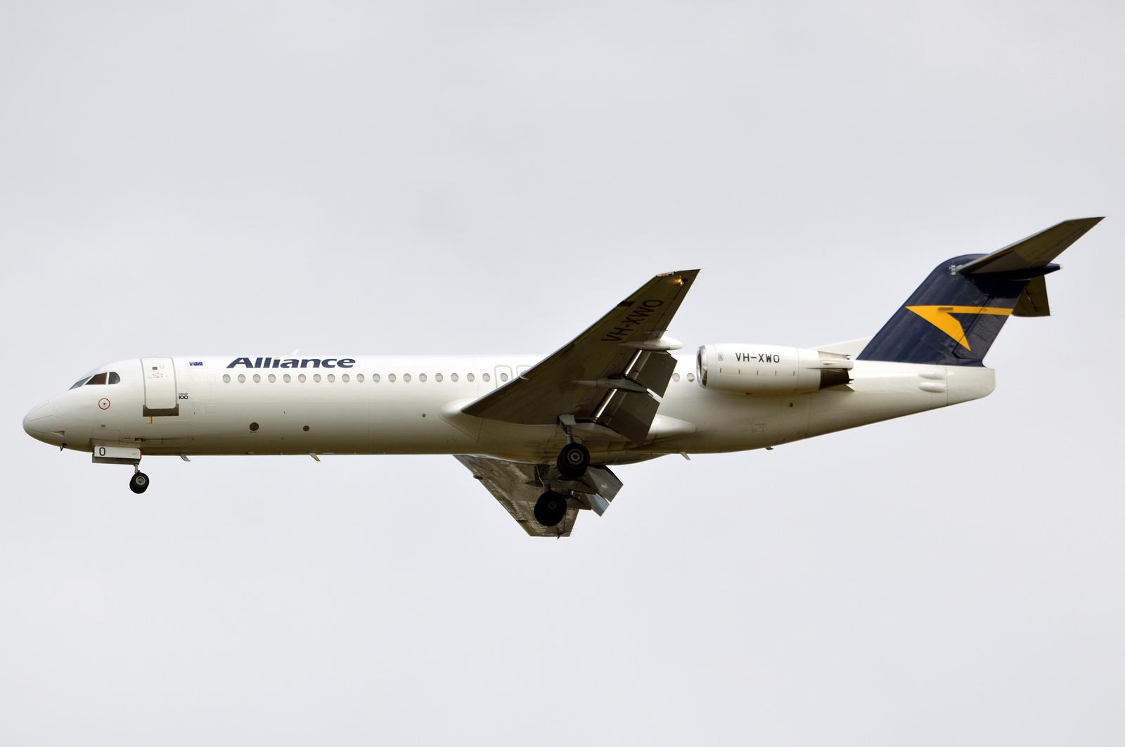 Central Queensland Plane Spotting: Alliance Airlines Fokker F-100 VH