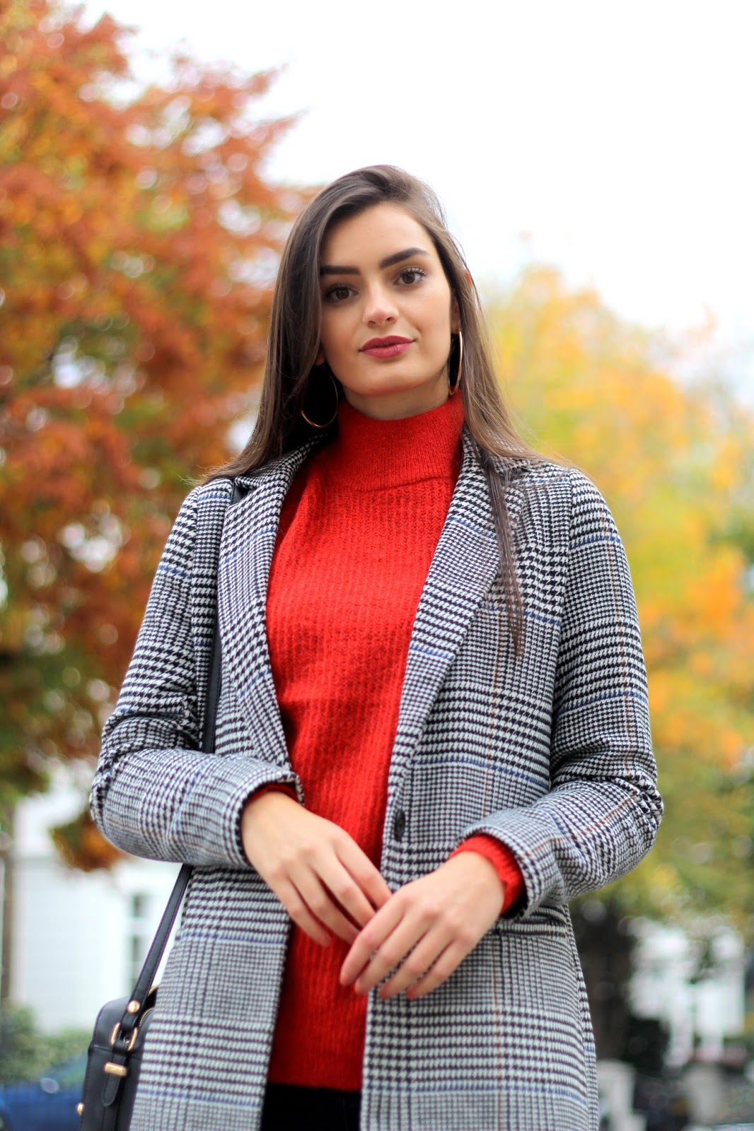 checked coat new look peexo personal style blogger