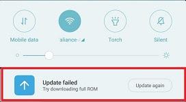 Update Failed!