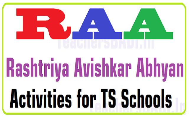 Rashtriya AvishkarAbhyan,RAA,Activities,TS Schools