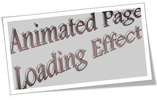 How To Add Animated Page Loading Effect In Blogger