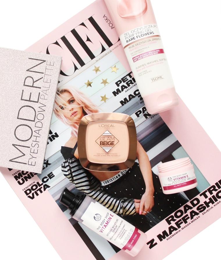 Nowości w mojej kosmetyczce: The Body Shop Vitamin E, Wibo Modern Eyeshadow Palette, Clinique Moisture Surge i inne