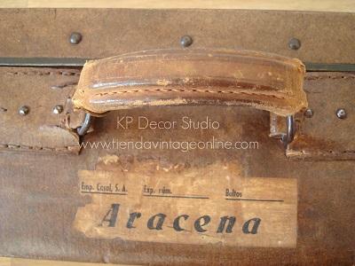 fotos de maletas antiguas online color marrón
