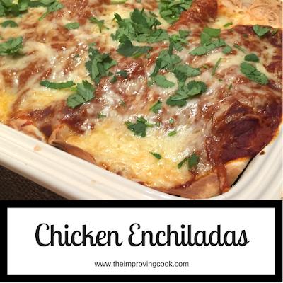 Chicken enchiladas pinnable image