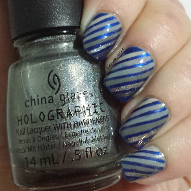 Nail-art-using-striping-tape-grey-nail-polish