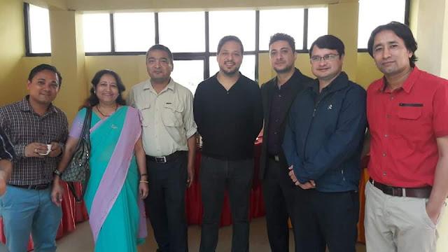 Dr Suman S Thapa, Dr kabindra Bajracharya, Dr Raavi, Dr Bhairaja Shrestha and NOS doctors