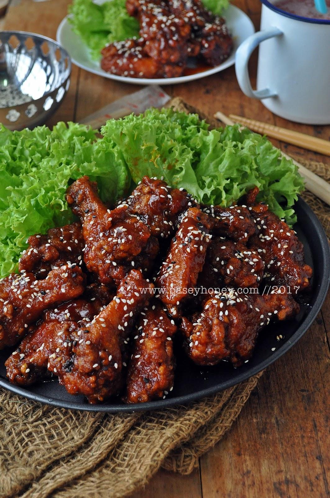Ayam Goreng Pedas Ala Korea Korean Hot Spicy Fried Chicken Yangnyeom Chicken Qasey Honey