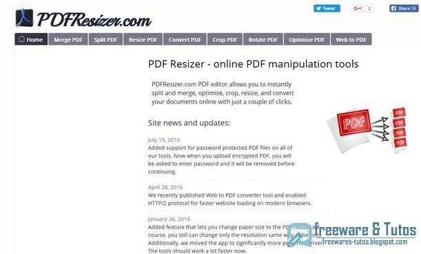 PDFResizer : une suite PDF en ligne