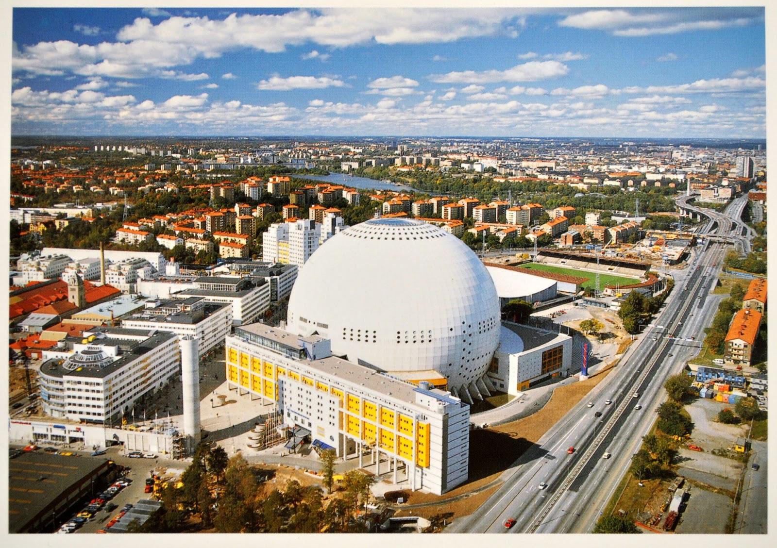 globe arena w sztokholmie