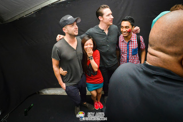 That happy moment when able to hug your favourite man OneRepublic Native Live in Malaysia 2013 =)