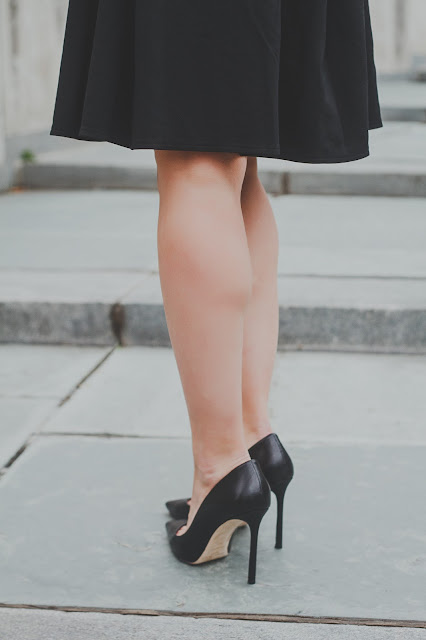 romy 100, Kathryn Stabile, Meryl Franzos, Jimmy Choo black heels
