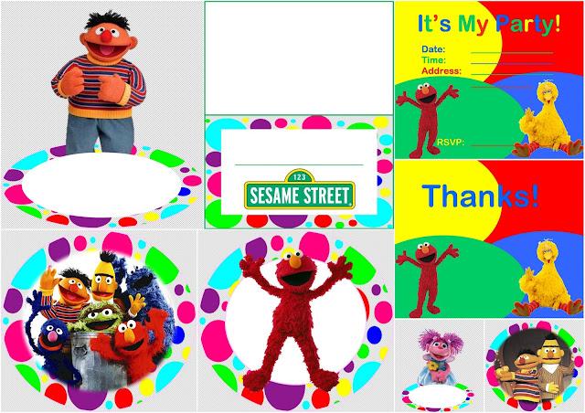 Plaza Sésamo: Kit con Puntos de Colores para Imprimir Gratis.