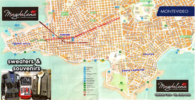 Mapa de Montevideu, Uruguai