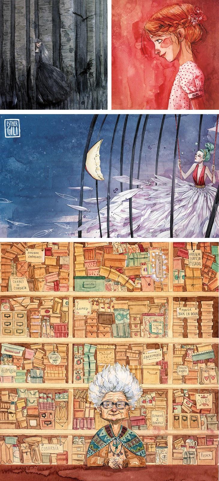 30 cosas sobre la ilustradora Estehr Gili, conoceremos a la persona y su universo