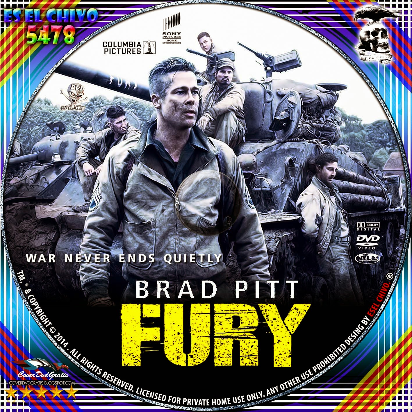 Fury 2014 Dvd Cover Related Keywords Suggestions Fury 2014 Dvd