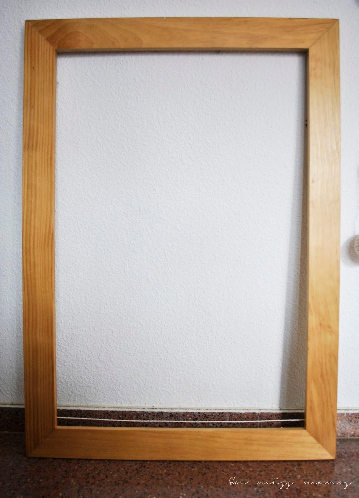DIY Cabecero marco de madera + cuerda - Handbox Craft Lovers ...