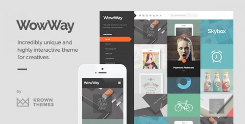 WowWay v2.1.3 – Interactive & Responsive Portfolio Theme