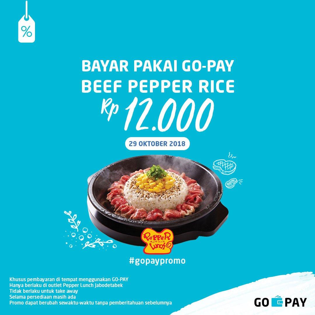 GOJEK - Promo Pepper Rice 12 Ribu di PepperLunch Pakai GOPAY (29 Okt 2018)