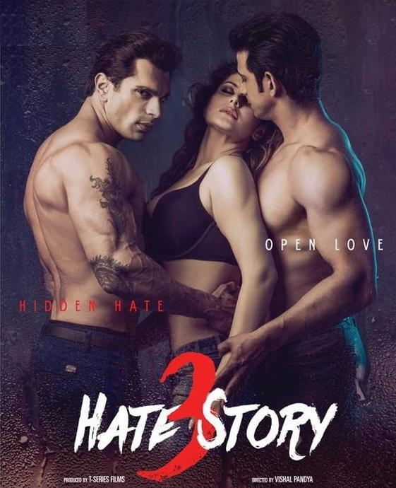 Poster Of Hate Story 3 2015 Hindi 700MB HDRip ESubs Free Download Watch Online