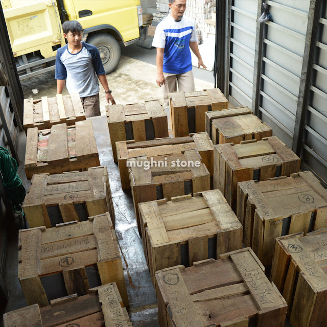 pengiriman ukiran batu candi ke singapore