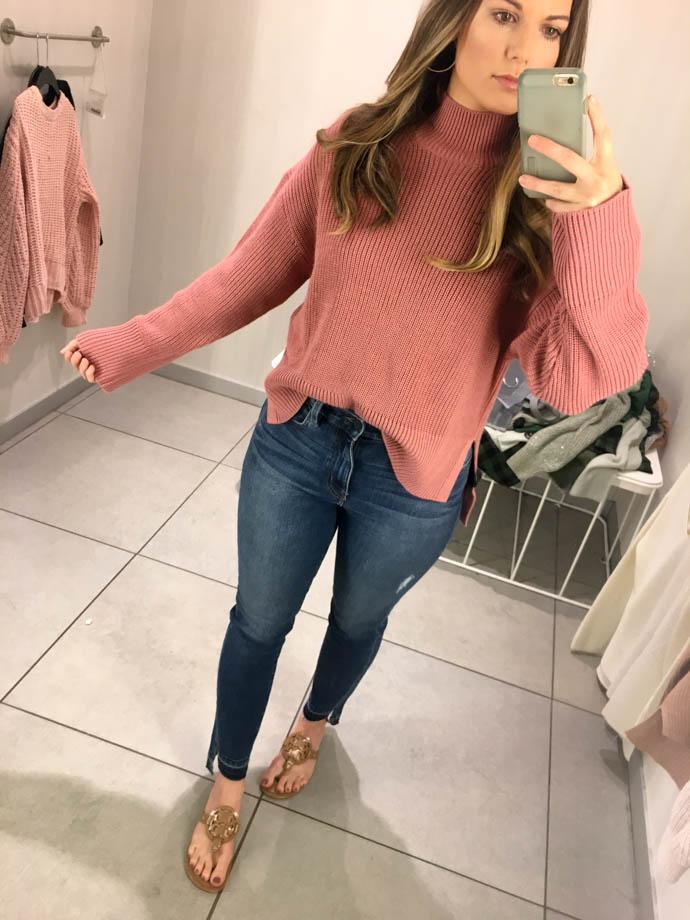 h&m knit wool blend sweater, fall outfit 2017, amanda sumner, the girlish blog, girl(ish), sc fashion blogger