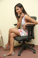 Nishi Ganda stunning cute in Flower Print short dress at Tick Tack Movie Press Meet March 2017 108.JPG