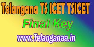 Telangana TS ICET Final Key TSICET Final Key Download