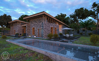 Volcanic Rocks as Building Material courtesy of Designer Nicolas-Patience Basabose @MrBasabose