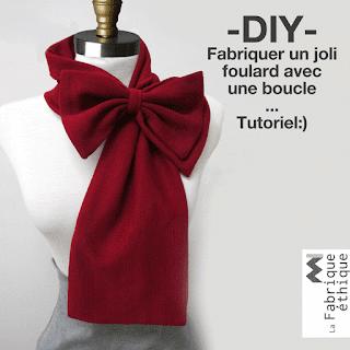 tutoriel fabriquer un foulard avec une boucle