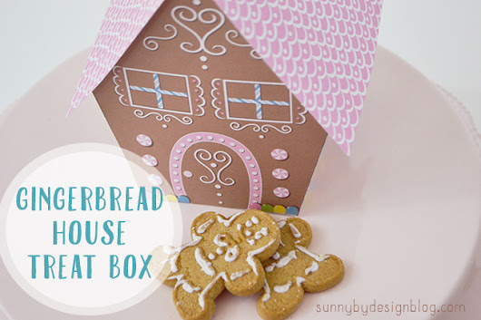 Gingerbread House printable treat box