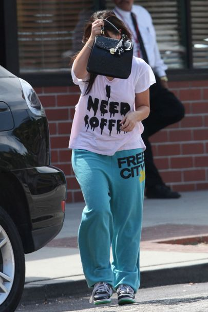I NEED COFFEE t-shirt as worn by Jennifer Love Hewitt.  PYGOD.COM