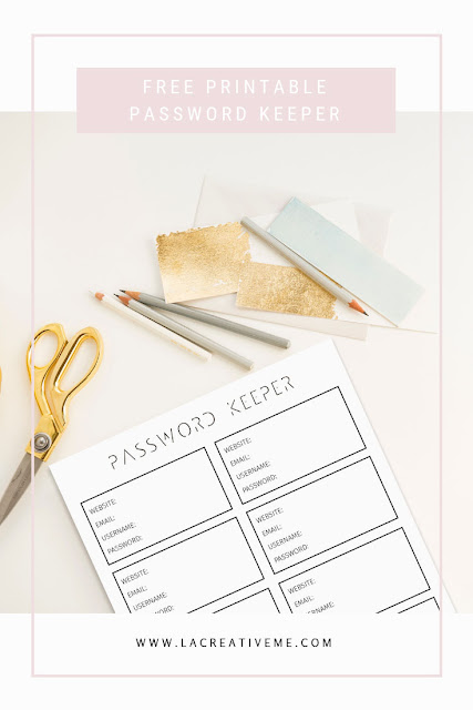 Free Printable Password Keeper
