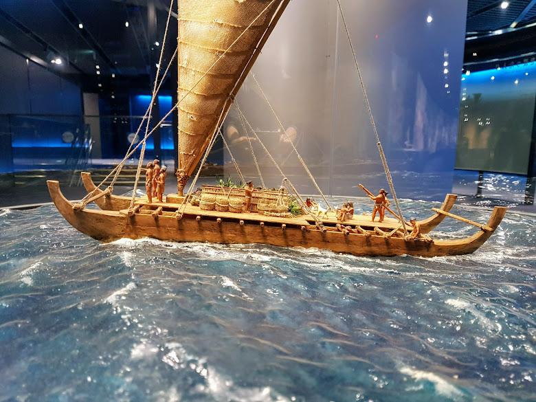海洋文化館內展示的遠洋出航示意模型