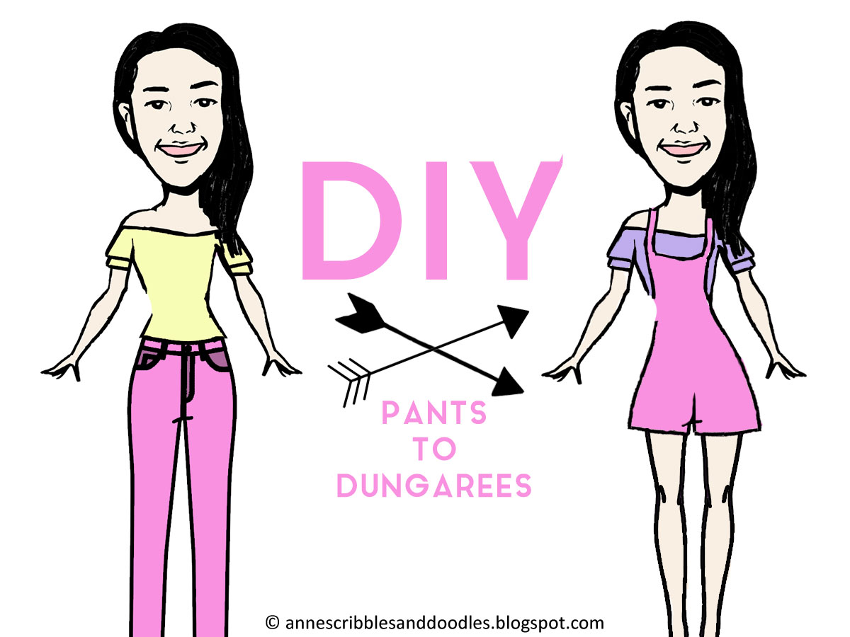 DIY Pants to Dungarees | Anne's Scribbles and Doodles