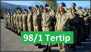 98/1 tertip askerlik yerleri