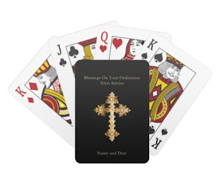 catholic priest personalized playing deck cards