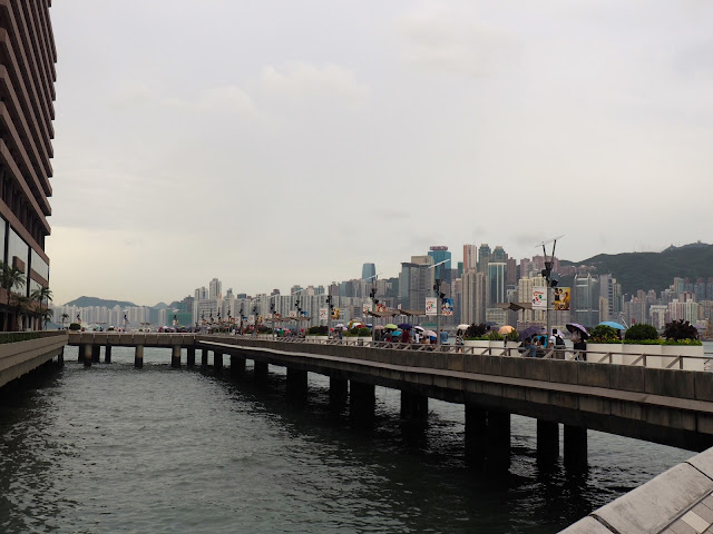Avenue of Stars & Hong Kong island skyline from TST, Kowloon