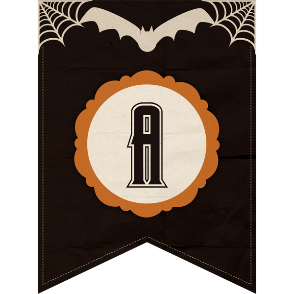This classic halloween banner has all 26 letters and 0-10 numbers for a complete decorative set