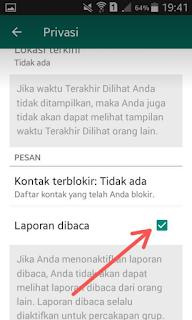 Cara Menghilangkan Tanda Baca/Centang Biru di WhatsApp