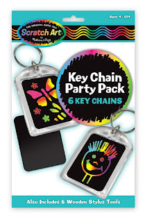 Melissa & Doug Scratch Art Key Chain Party Pack Activity Kit makes 6